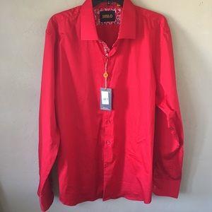 Suslo Couture Button Up Shirt Sz 3xl